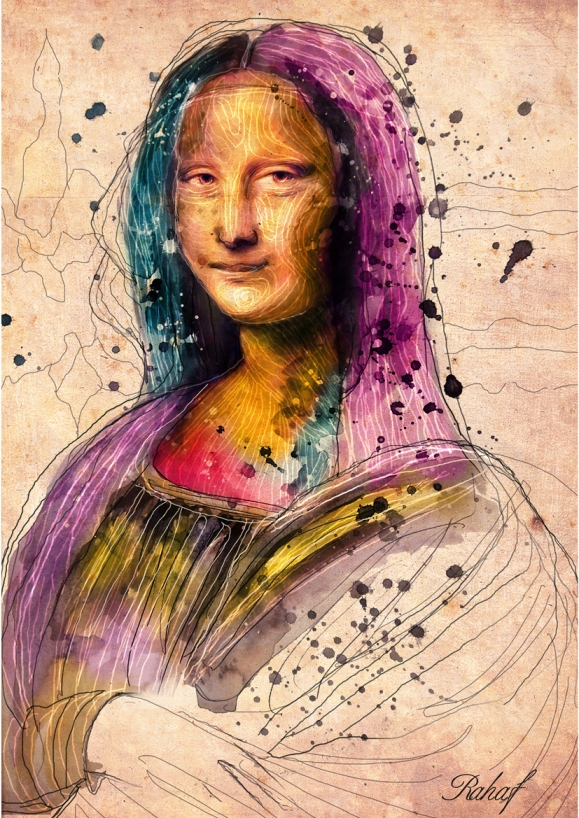 La Gioconda by Rahaf Dk Albab